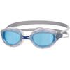 Zoggs Predator Goggle Silver/Blue/Tint